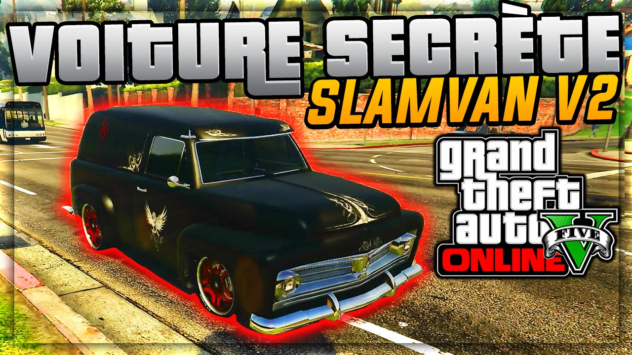 infos la voiture secr te de gta 5 online pr sentation du slamvan v2 gta 5 ps4 inthefame. Black Bedroom Furniture Sets. Home Design Ideas