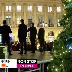 Les Stentors célèbrent Noël, place Vendôme à Paris (Exclu vidéo)